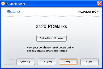 PCMark04 na 1.8GHz