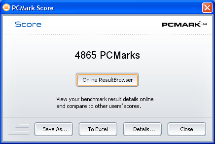 PCMark04 na 2.8GHz