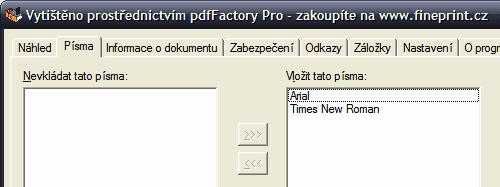 pdfFactory písma