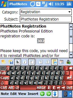 PhatNotes - Today obrazovka