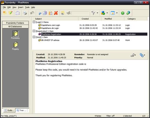 PhatNotes na Windows XP