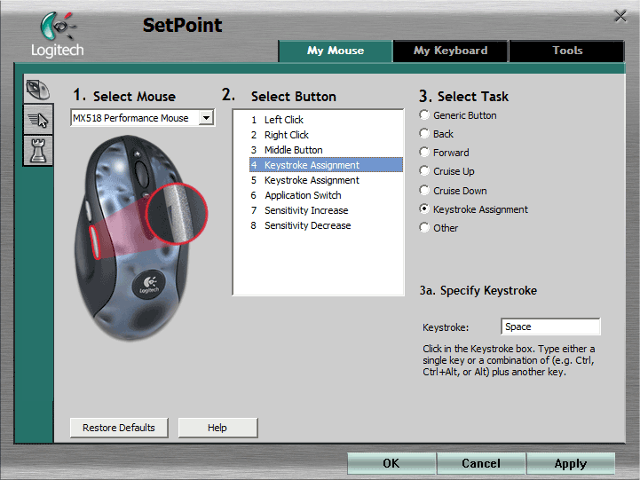 SetPoint Basic Settings