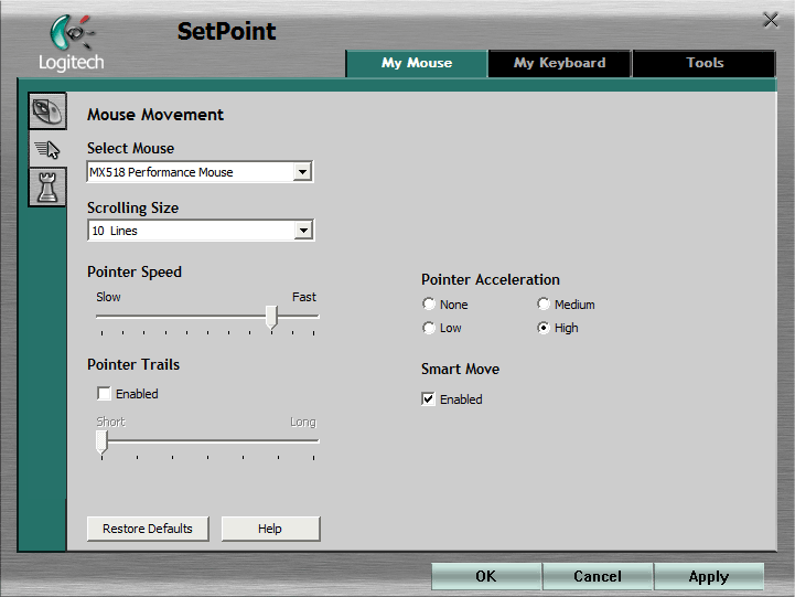 SetPoint Movements