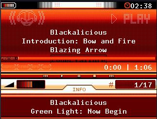 RockBox - přehrávání písničky