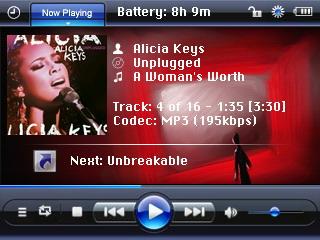 styl Windows Media Playeru iPodu vyloženě sluší