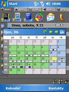 PocketBreeze měsíční kalendář