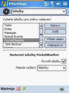 PocketBreeze - nastavení II.