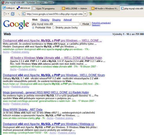 SEO na Google - příklad 1