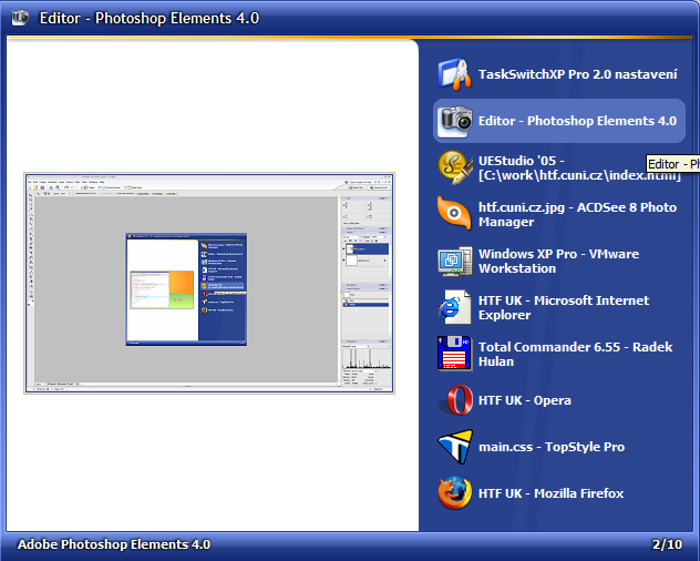 TaskSwitchXP screenshot