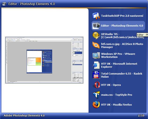 TaskSwitchXP screenshot