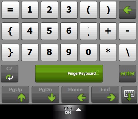 FingerKeyb - numerický blok