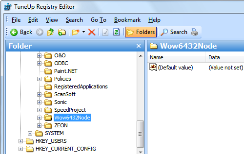 registry ve Vista x64