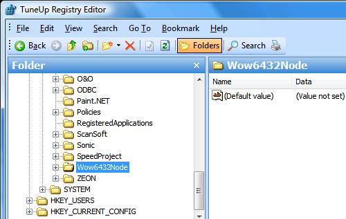 registry ve Vista x64