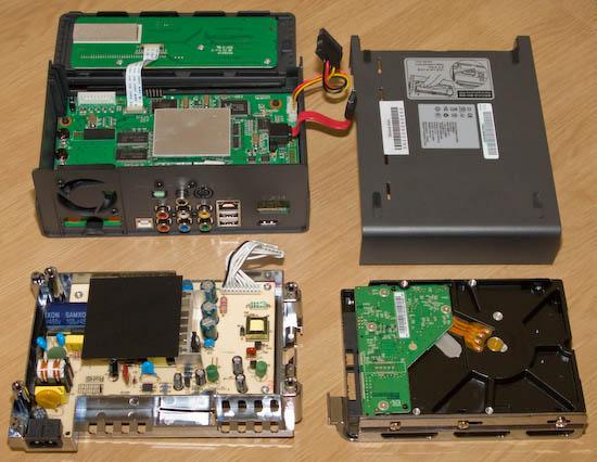 TViX M-6500A vnitřnosti