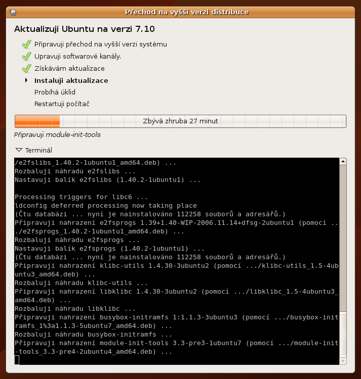 Ubuntu 7.04 upgrade na 7.10
