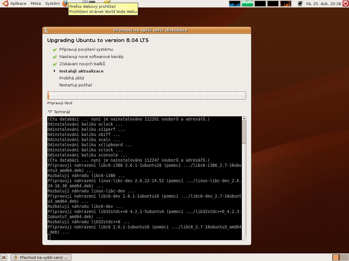 Ubuntu 8.04 Hardy Heron - stažení a upgrade distribuce