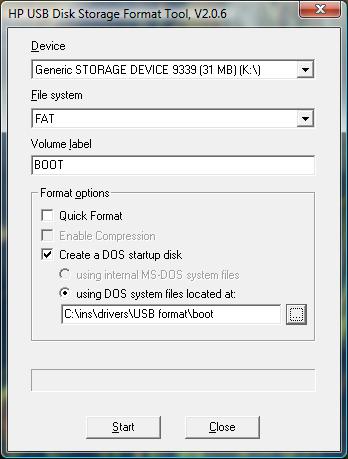 příprava USB flash disku pro bootování