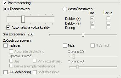 FFDShow - postprocessing