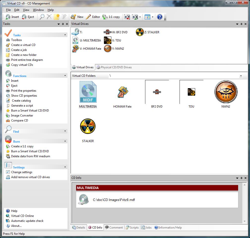 Virtual CD 9.1 - новая версия программы для создания виртуальных