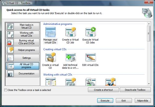 Virtual CD 9 Toolbox