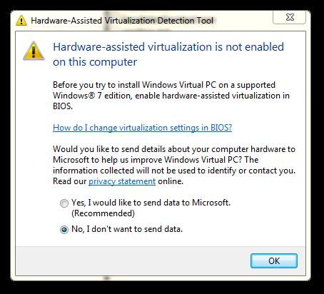 zakázaná virtualizace