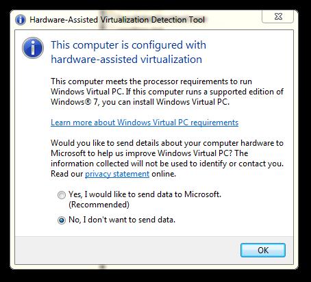 povolená virtualizace