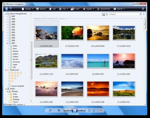 Windows Vista - prohlížení fotografií