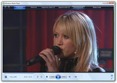 Windows Vista - přehrávání videa ve WMP11