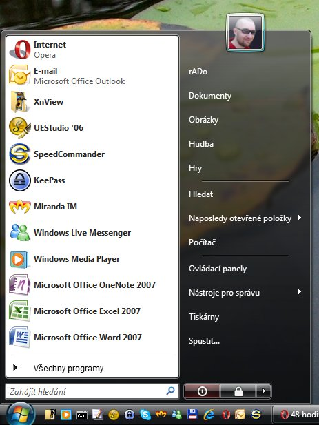Windows Vista Start Menu