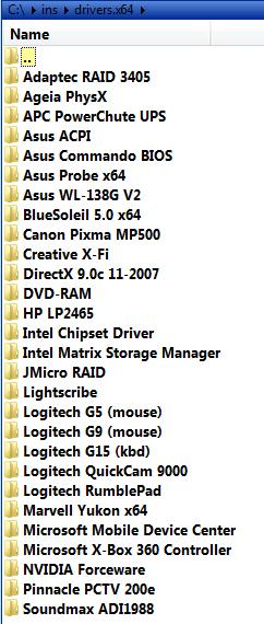 ovladače pro Vista x64