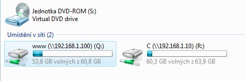 přístup na Windows XP a Fedora 7 z Vista x64