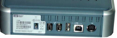 Zadní konektory