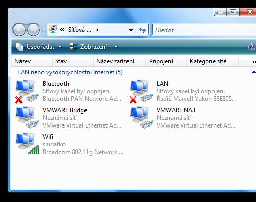 network devices ve Vista