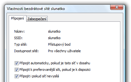 schované SSID