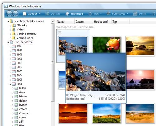 Windows Live Fotogalerie je dobrá na organizaci fotek i publikaci online