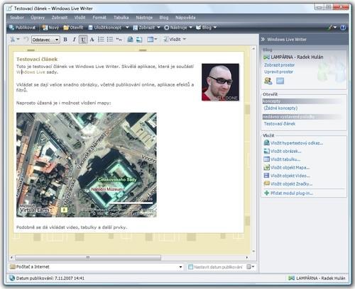 Windows Live Writer pro snadné publikování na vašem blogu