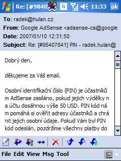 Jeden email