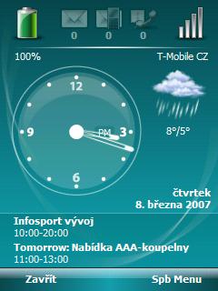 úvodní obrazovka s SPB Mobile Shell