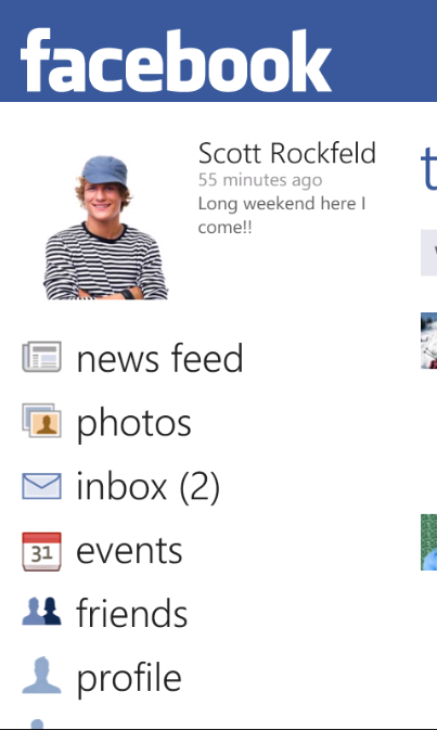 Facebook for WP 7.5