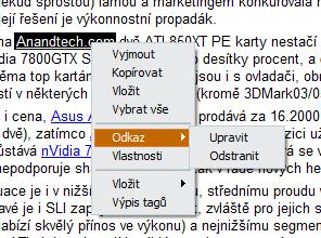Kontextové menu